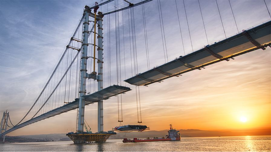 Osman Gazi Bridge to open to traffic on June 30, 20162