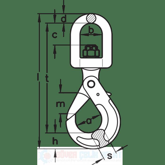 Otomatik Kilitli Fırdöndü Kanca Tip CLW-1