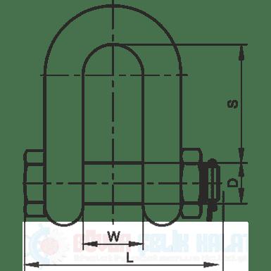 J&L DX Type G2150 Shackle-2