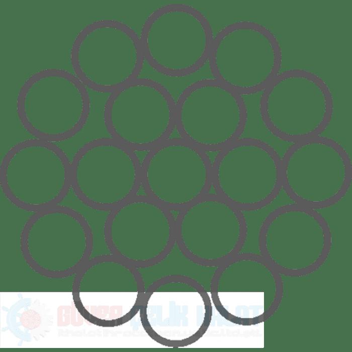 1X19 (1+6+12) Monotoron Çelik Halat