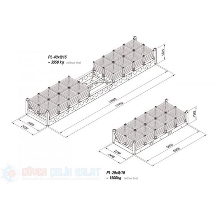 Bin racks  PL-20x8/10-2