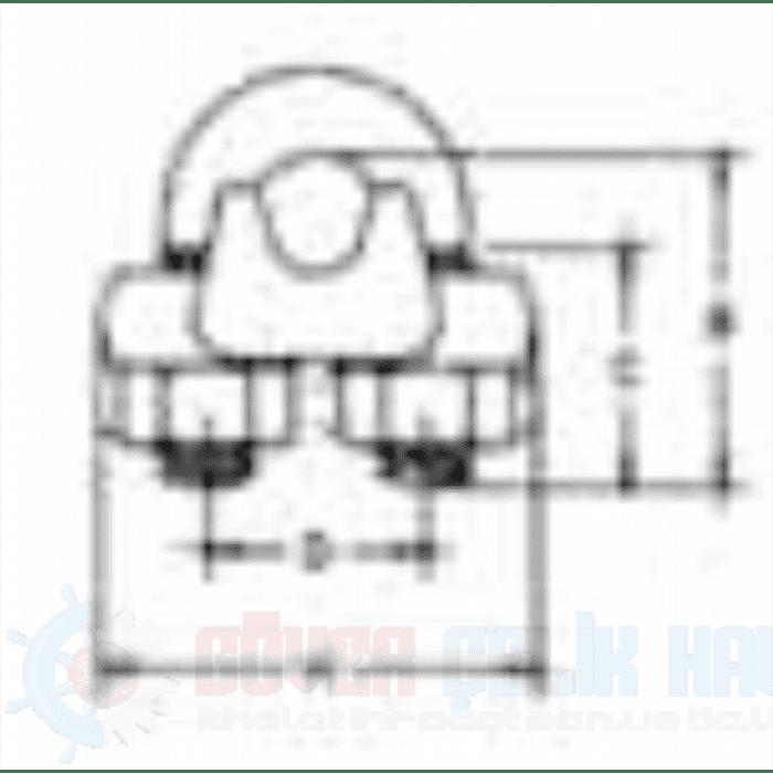 Dövme Çelik Tırnaklı Halat Klemensi G 450-2
