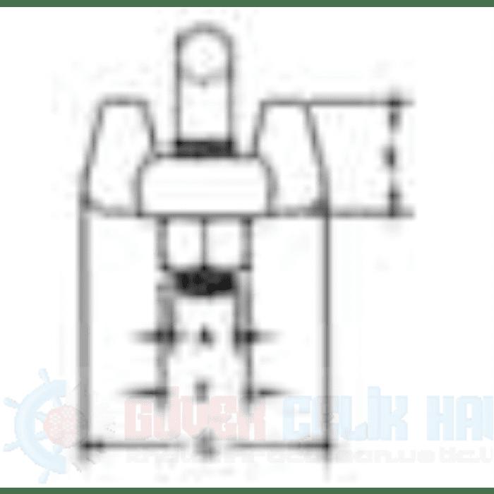 Dövme Çelik Tırnaklı Halat Klemensi G 450-3