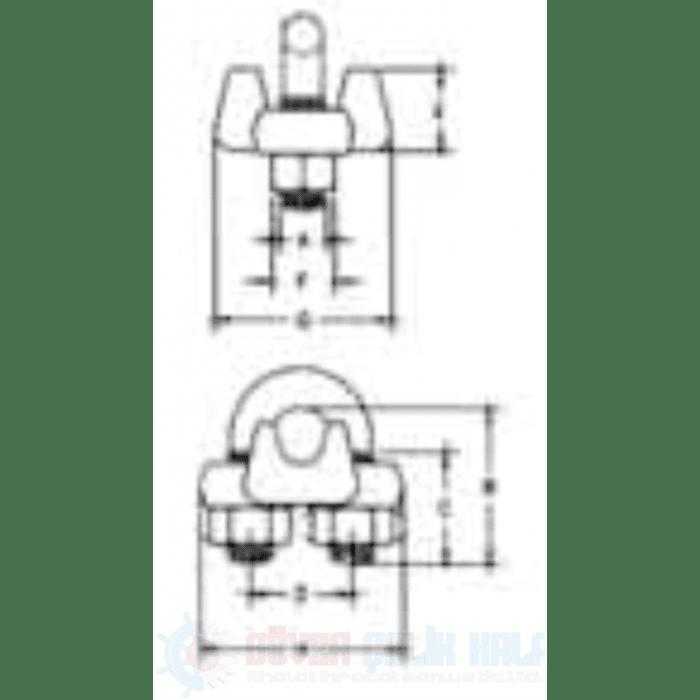 PaslanMaz Çelik Halat Klemensi S 450-2