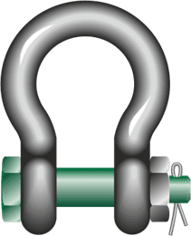 Green Pin® Standard Bow Shackles with Safety Bolt-1