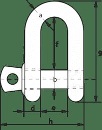 Green Pin® Standard Dee Type Shackles -2